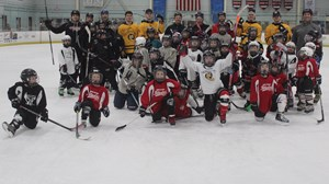Men's Ice Hockey at Youth Practice